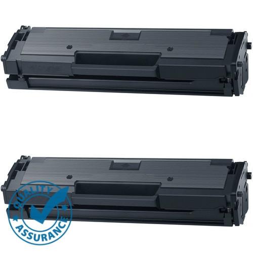Printer Pro™ 2 Pack Samsung MLT-D111S Black Toner Cartridge-Samsung Printer M2020/M2070