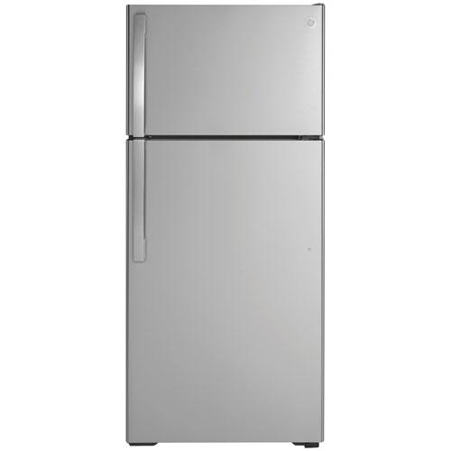 "GE 28"" 16.6 Cu. Ft. Top Freezer Refrigerator - Stainless Steel"