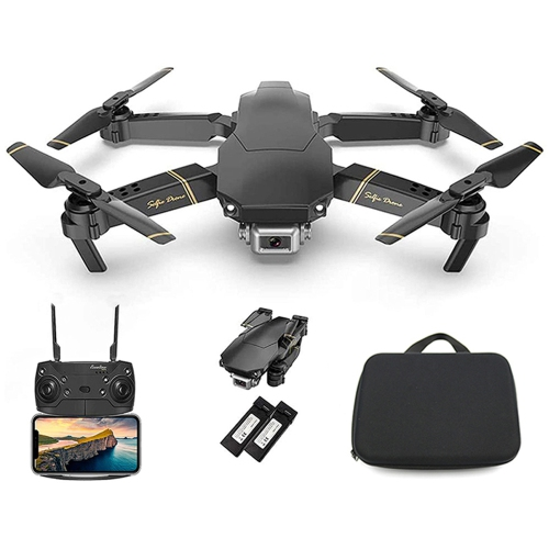 The Bigly Brothers E58 X Pro LITE Edition 2K Drone with Camera - Black