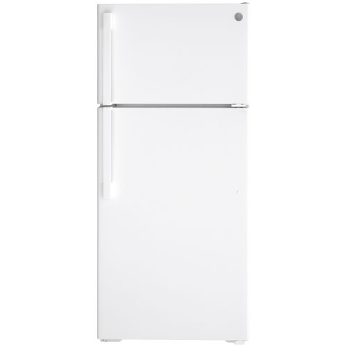 "GE 28"" 16.6 Cu. Ft. Top Freezer Refrigerator - White"