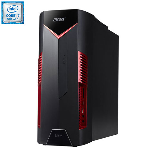 Acer Nitro Gaming PC (Intel Core Ci7-9700/1TB HDD/256GB SSD/16GB RAM/GeForce GTX 1660 Ti) N50-600-EB19