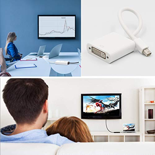 Thunderbolt2 Compatible Mini DisplayPort to Dual Link DVI-D Active Adapter 1080p Mini DP to DVI Male Adapter Cable