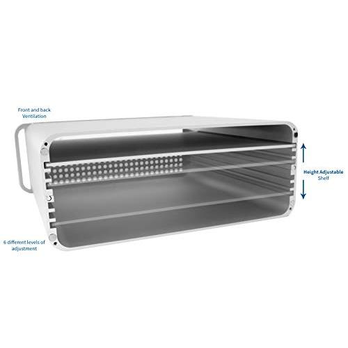 STAND-V000M VIVO Height Adjustable Sleek Desktop Monitor Riser Stand and Storage Box for Apple iMac Displays