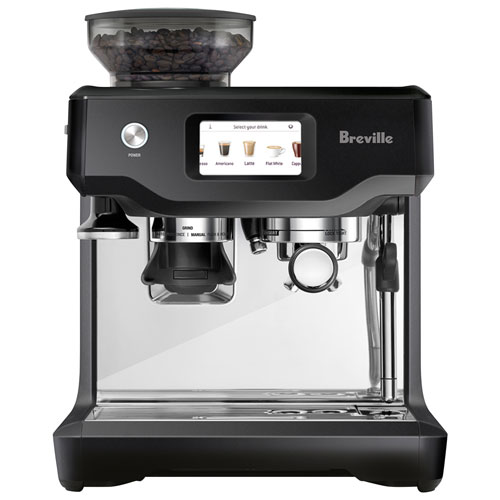 Breville Barista Touch Automatic Espresso Machine with Frother & Coffee Grinder - Black Truffle