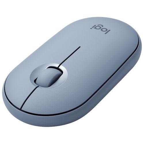 Logitech Pebble M350 Bluetooth Optical Mouse - Blue/Grey