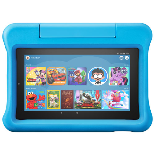 Amazon Fire 7 Kids Edition 7 16gb Fireos 6 Tablet With Mtk8163b 4 Core Processor Blue Best Buy Canada