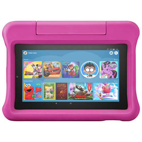 """Amazon Fire 7 Kids Edition 7"""" 16GB FireOS 6 Tablet with MTK8163B 4-Core Processor - Pink"""