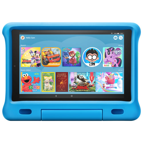 Amazon Fire Hd Kids Edition 10 1 32gb Fireos 7 Tablet With Mtk Mt8183 Processor Blue Best Buy Canada