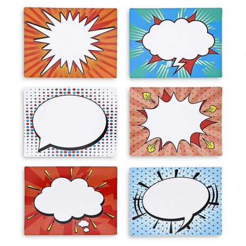 Magnetic Accents for Classroom Juvale 36-Pack Super Hero Comic Speech Bubbles 4 x 3 Inches