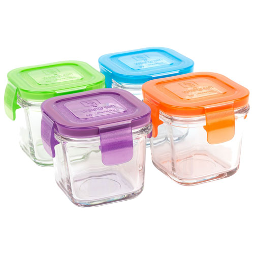 Wean Green Cube Food Container - 4 Pack