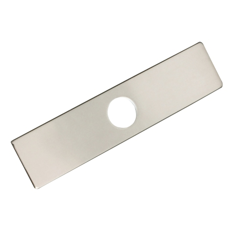 Kitchen Faucet Plate - Brushed Nickel Finish