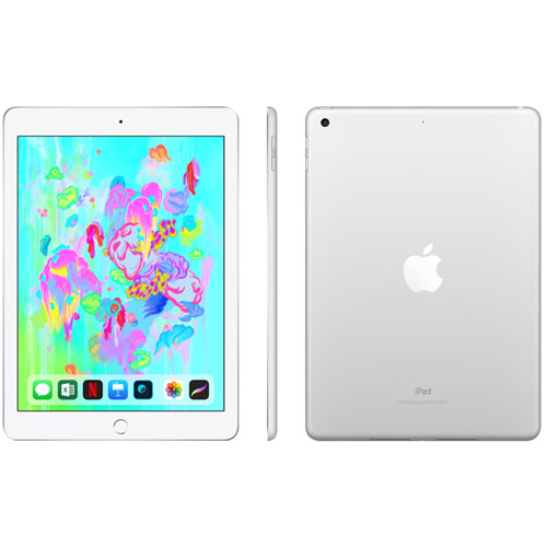 Fido Apple iPad 128GB with Wi-Fi/4G LTE - Silver - Monthly Financing