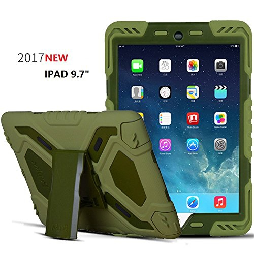 New Ipad 9 7 Inch 2017 2018 Ipad 9 7 Case Bpowe Heavy Duty Cover Plastic Dual Layer Shock Proof Drop Olive Olive Best Buy Canada