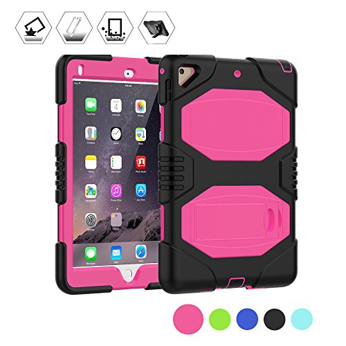Ipad Air 2 Case Clarkszone 3 Layers Heavy Duty Soft Hard Case With Kickstand Shockproof Rugged Cover Rosy Best Buy Canada