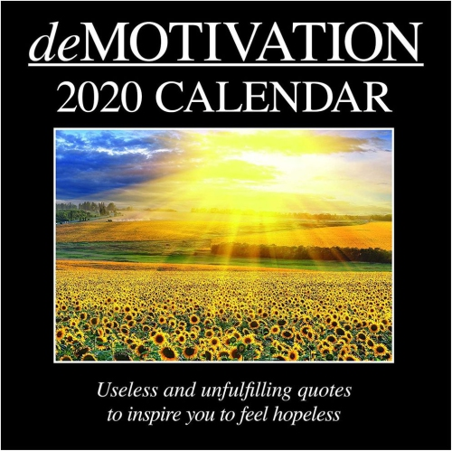2020 Wall Calendar 12 16 Month Funny Quotes Demotivation Theme With Stickers