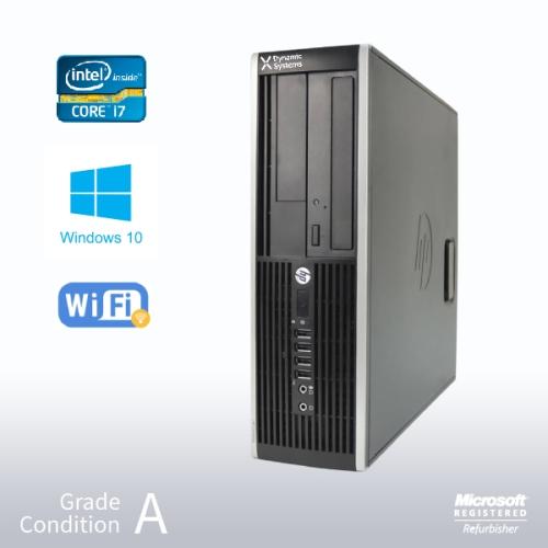 Refurbished HP Elite 8300 SFF Desktop, Intel i7 3770 3.4GHz/8GB /NEW 480GB SSD +500GB/ DVD/ Win10 Pro/Fast AC 600 WiFi USB