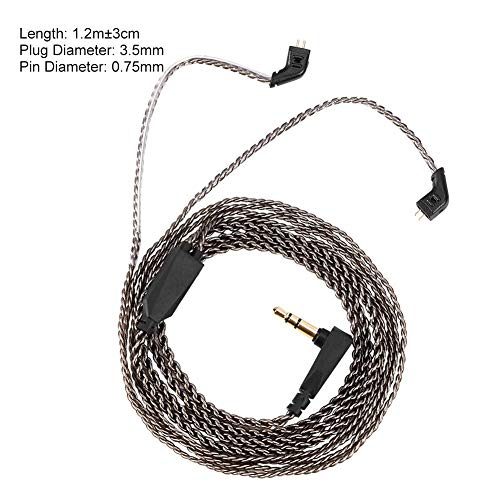 Detachable Audio Cable Headphone Cable Plated Copper Cable for KZ ZST ED12 ES3 ZSR 2 Pin Earphone Replacement Cable