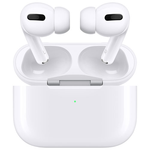 Apple Airpods Pro In Ear Noise Cancelling Truly Wireless Headphones White Best Buy Canada