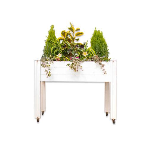Jardinière Sunseeker de 2 x 4 pi de New England Arbors - Blanc