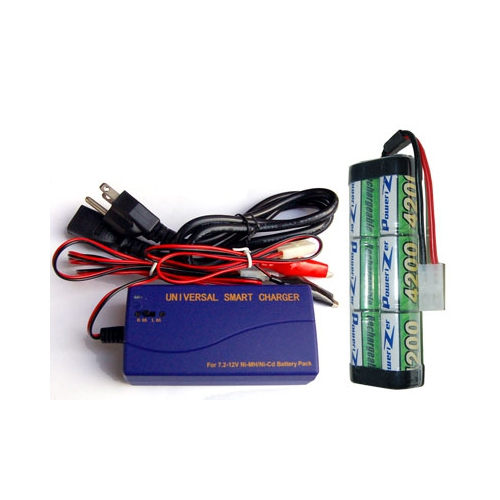 7.2 Volt NiMH Battery Pack + Universal Smart Charger