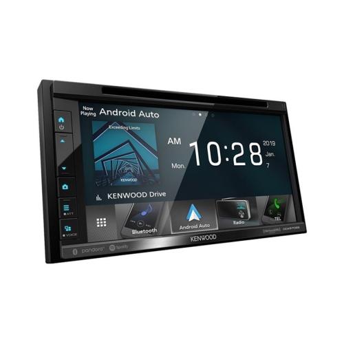 """Kenwood DDX6706S Récepteur Multimédia/Radio avec Écran Tactile Résistant de 6,8 """", Lecteur CD / DVD, Bluetooth, Pour Voiture, Noir"""