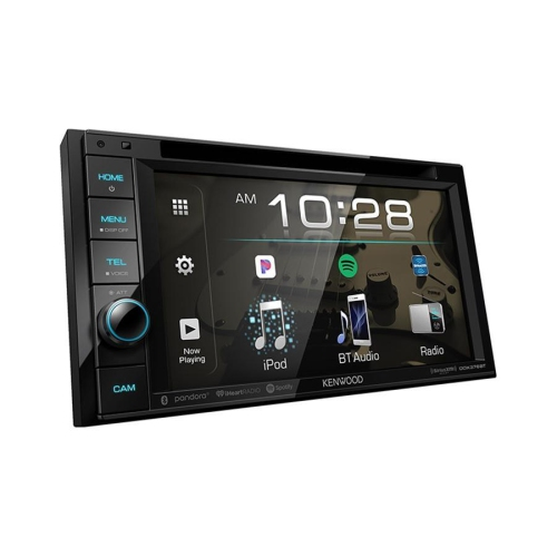 """Kenwood DDX376BT Récepteur Multimédia / Radio avec Écran Tactile Résistant de 6,2 """", Lecteur CD / DVD, Bluetooth, Pour Voiture, Noir"""