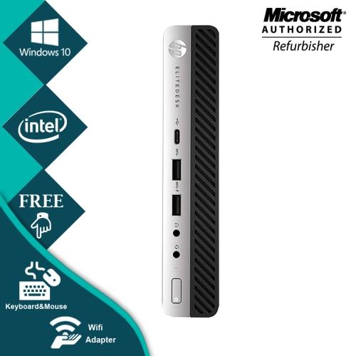 HP ProDesk 600 G3 Mini Desktop Computer Intel i5 7500T 8GB New 128GB SSD  Windows 10 Home WiFi-Refurbished