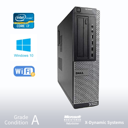 Refurbished DELL Optiplex 7010 Desktop, Intel i7 3770 3 4GHz/24GB /500GB  HDD/ DVD/ Win10 Pro/Fast AC 600 WiFi USB