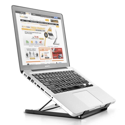 "PrimeCables® 10""~15"" Adjustable Laptop Stand, Laptop Holder, Ergonomic 5 Angle Adjustment Settings"