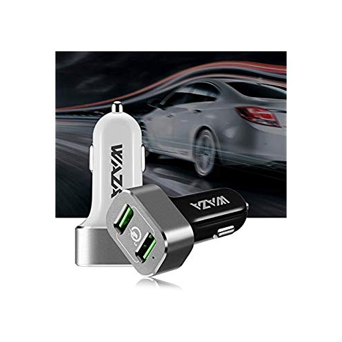 WAZA Car Charger with Quick Charge 3.0 36W Dual Ports for Android Smartphone//iPhone//ipad and More White 4348724485