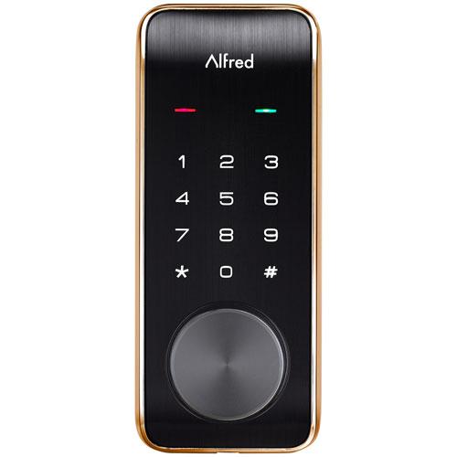 Serrure intelligente à écran tactile Bluetooth DB2 d'Alfred - Doré