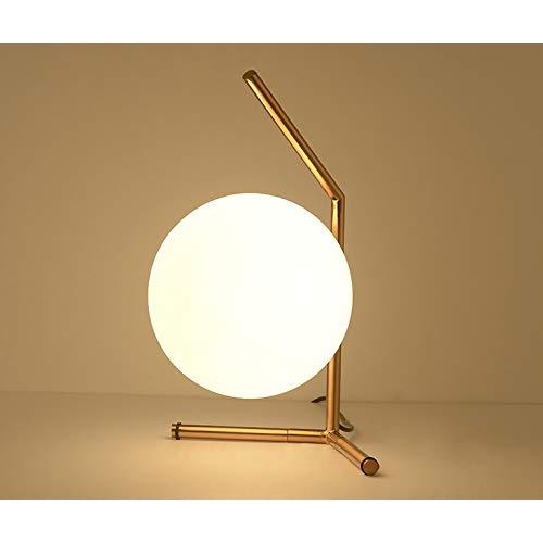 ZfLogic Mon Cheri Glass Lightening Ball Desk Lamp for Bedroom, Study Room & Dining Room