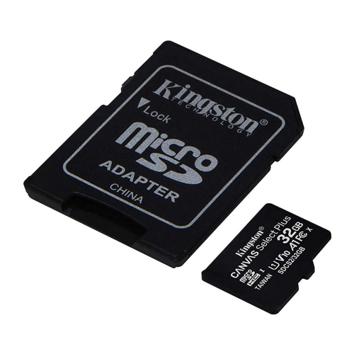Kingston Carte Micro SD 32GB Canvas Select Plus 100R A1 C10 Carte + Adaptateur