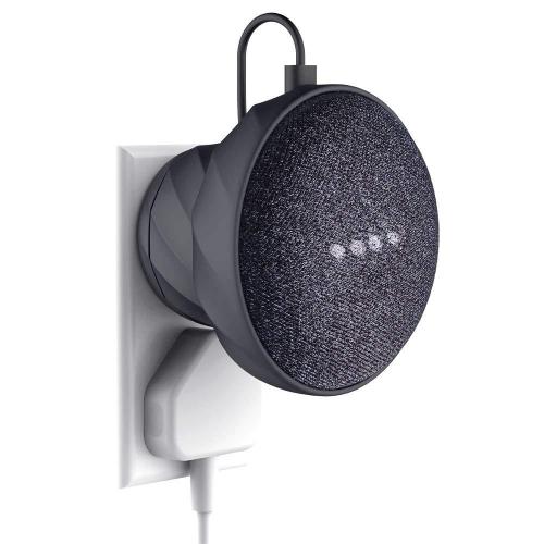 Pedestal Mount Holder Stand for Google Home Mini Table Pedestal Mount Improves Sound Visibility and Appearance Cleanest Mount Holder Black 2 Pcs