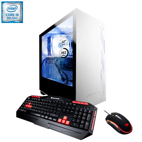 iBuyPower S976 Gaming PC (Intel Core i9-9900KF/1TB HDD/480GB SSD/16GB RAM/RTX 2080 Super) - English