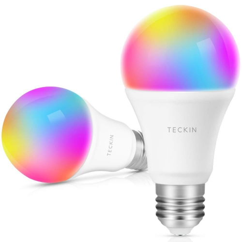 TECKIN Smart LED Bulb WiFi E27 Dimmable Multicolor Light Works with