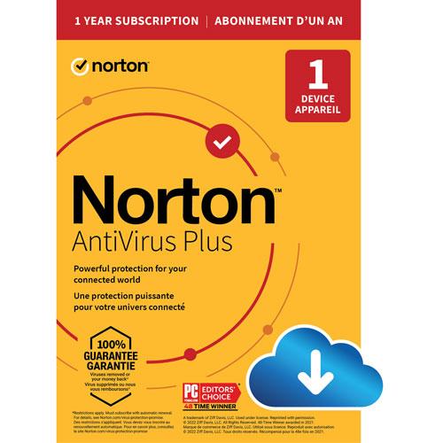 Norton AntiVirus Plus - 1 Device - 1-Year Subscription w/Auto Renewal - Digital Download