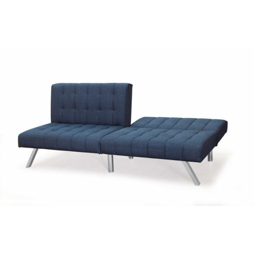 ViscoLogic Rhythm Convertible 3-Seater Quilted Fabric Futon Sofa