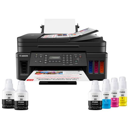 Imprimante à jet d'encre tout-en-un sans fil MegaTank PIXMA G7020 de Canon