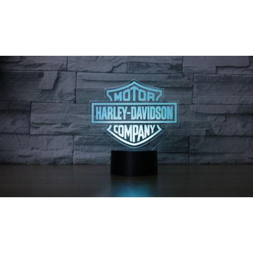 7 Colour 3D Lamp Harley Davidson