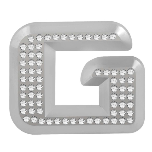 "Pilot 1.5/"" x 1/"" Inch Stick On Bling Chrome Letter O"