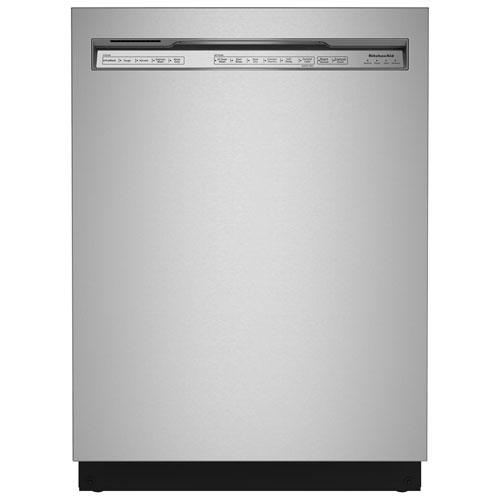 Lave-vaisselle encastrable 24 po 44 dB à cuve en inox de KitchenAid - Inox PrintShield