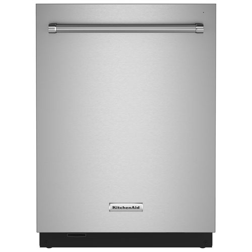 """KitchenAid 24"""" 44dB Built-In Dishwasher with Stainless Steel Tub - PrintShield Stainless"""