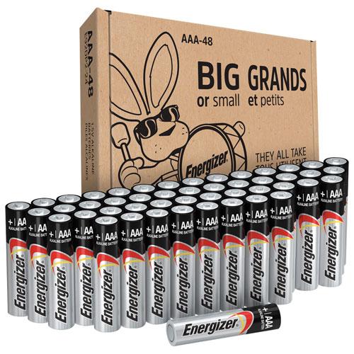 Piles alcalines AAA Max d'Energizer - Paquet de 48