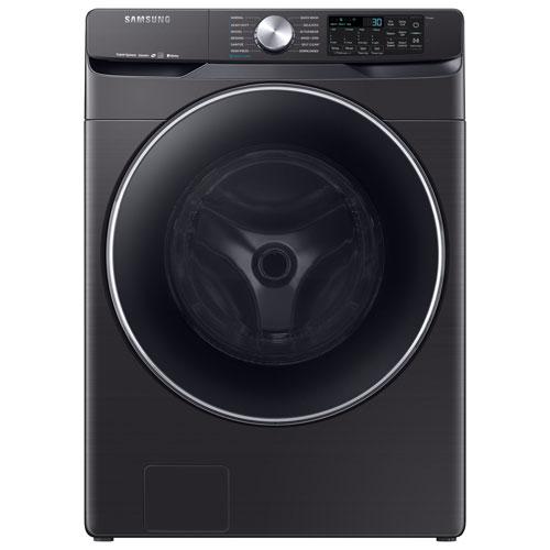 Laveuse à chargement frontal haute efficacité de 5,2 pi³ po de Samsung - Inox noir