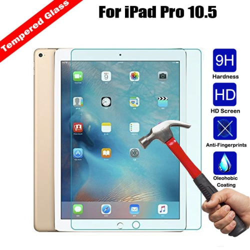 LIPTO - iPad Pro 10.5 Screen Protector Premium Tempered Glass / Apple Pencil Compatible / 2.5D Round Edge / Scratch Resist