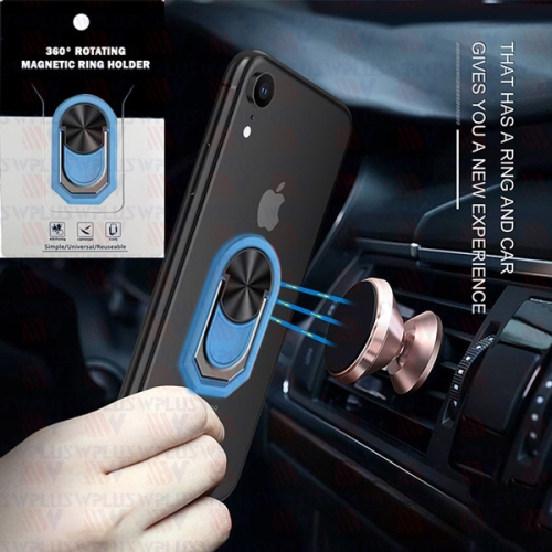 Cell Phone Ring Holder 360/° Rotation for Magnetic Car Mount Compatible with All Smartphone