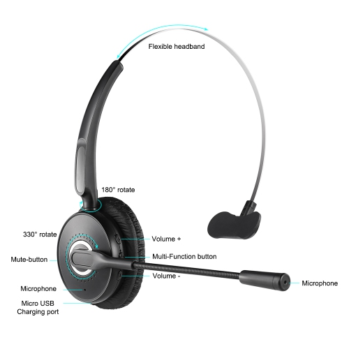 Bluetooth Wireless Headset With Microphone Boom A6 Best Buy Canada