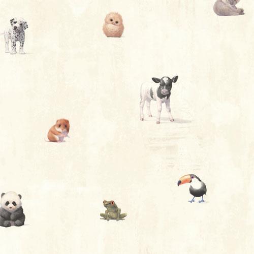 Chesapeake Tate Animal Alphabet Wallpaper - Beige