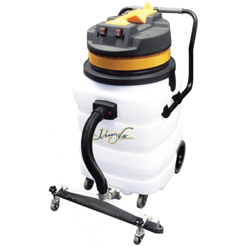Heavy Duty Wet & Dry Commercial Vacuum - Capacity of 22 gal - 2 Motors - Integrated Squeegee